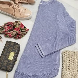 Chico's Lavender and Silver Sweater